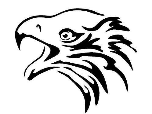 Eagle Head mylar stencil 125/190 micron in A5/A4/A3 sizes