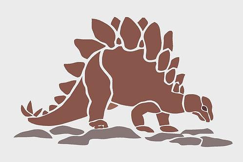 Dinosaur mylar stencil 125/190 micron in A5/A4/A3 sizes (2)