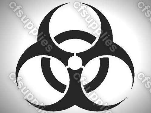 Biohazard Sign Mylar Stencil Sheet Design.