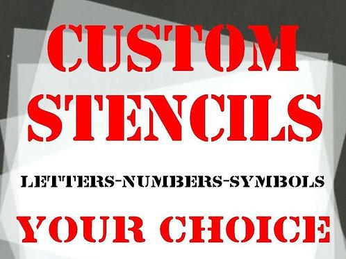 Custom made Mylar Stencils