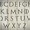 Alphabet Game of Thrones Mylar Stencil