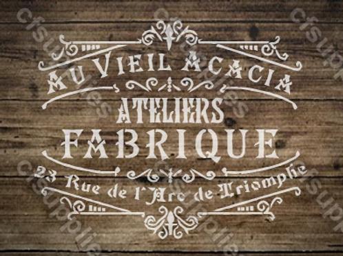 Fabrique French vintage Shabby Chic Mylar Stencil