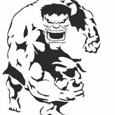 Incredible Hulk Mylar Stencil