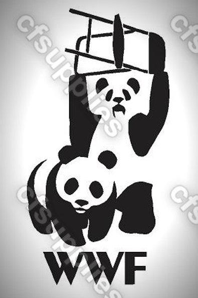 wwf Panda Mylar Stencil Sheet