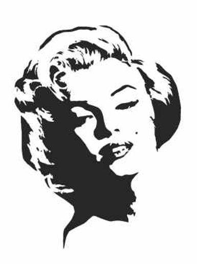 Marilyn Monroe Mylar Stencil