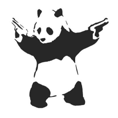 Banksy Panda Mylar Stencil