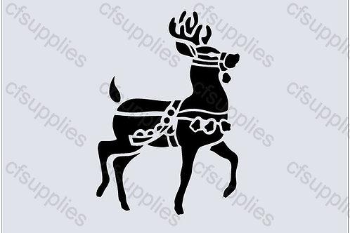 Christmas Reindeer Mylar Stencil Sheet