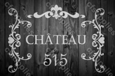 Chateau Shabby Chic French Vintage Mylar Stencil