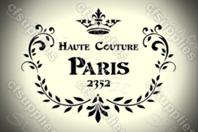 Haute Couture Shabby Chic French Vintage Mylar Stencil