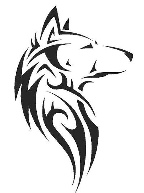 Tribal Wolf mylar stencil 125/190 micron in A5/A4/A3 sizes