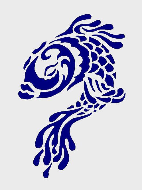 Fish mylar stencil 125/190 micron in A5/A4/A3 sizes