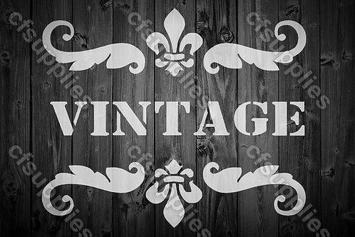 Vintage Shabby Chic Mylar Stencil