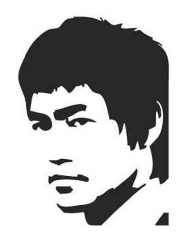Bruce Lee Mylar Stencil