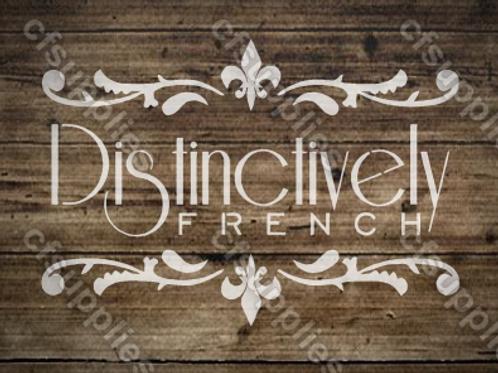Distinctively French vintage Shabby Chic Mylar Stencil