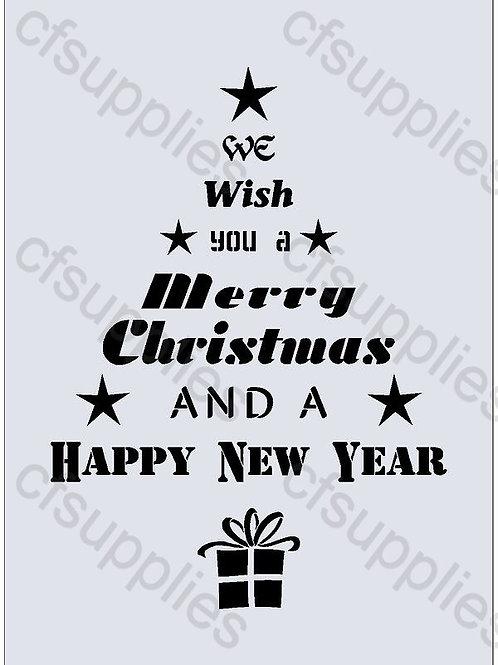 Christmas Mylar Stencil Sheet
