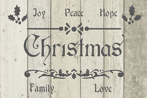 Christmas Joy Mylar Stencil Sheet