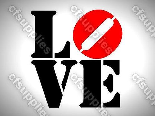 Love Mylar Stencil Sheet Design.