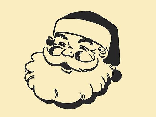 Santa Claus Christmas Mylar Stencil Sheet