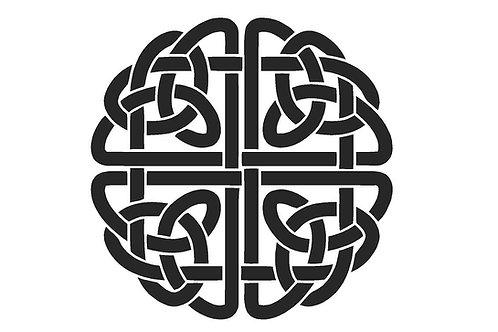 Celtic Knot Mylar Stencil