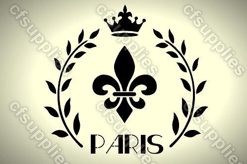 Paris Shabby Chic Mylar Stencil