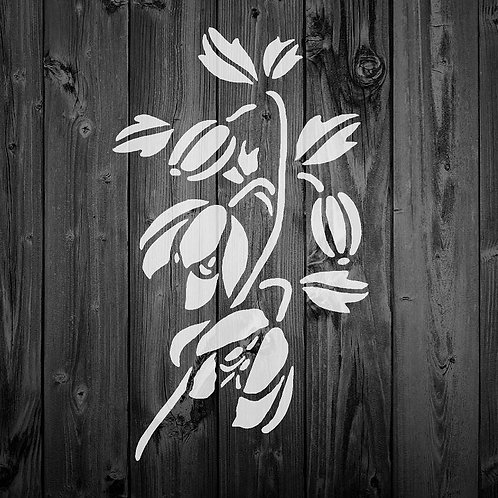 Flower Mylar Stencil 125/190 micron in A5/A4/A3 sizes (F17)