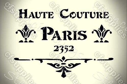 Haute Couture Shabby Chic mylar stencil