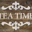 Tea Time French vintage Shabby Chic Mylar Stencil