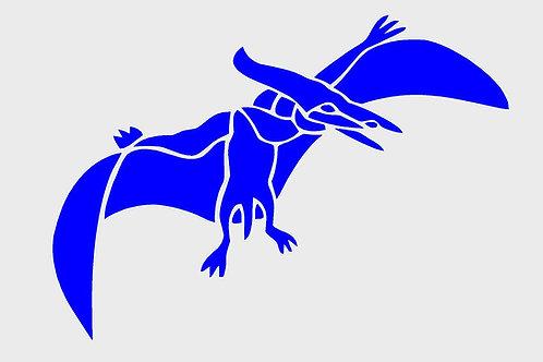Dinosaur mylar stencil 125/190 micron in A5/A4/A3 sizes (1)