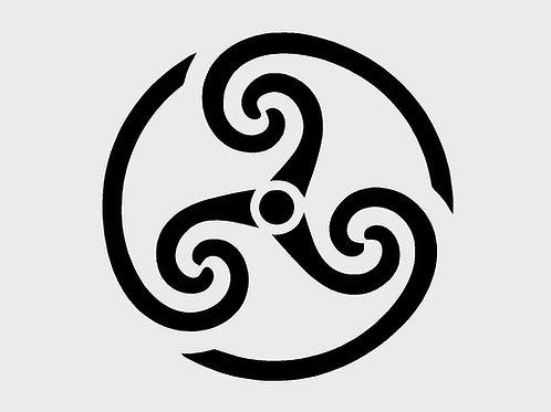Celtic Spiral Mylar Stencil