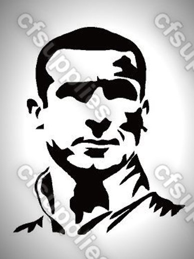 Cantona Mylar Stencil Sheet Design.