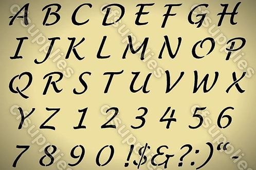 French Vintage Alphabet Mylar Stencil