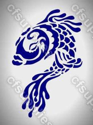 Fish Mylar Stencil