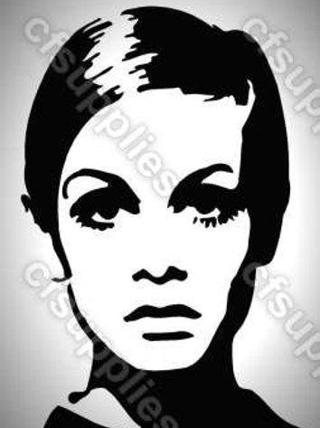 Twiggy Mylar Stencil