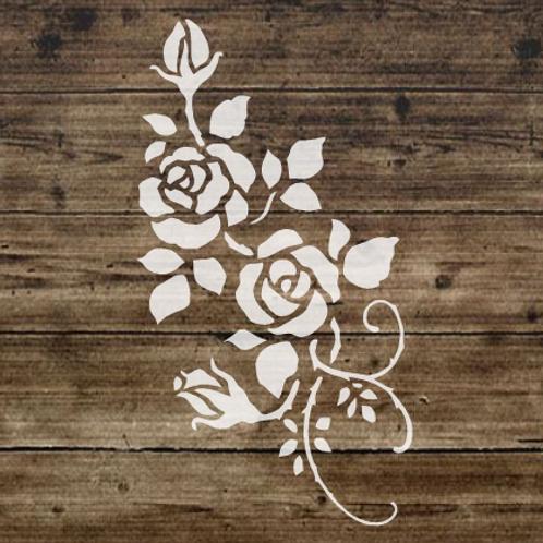Roses Shabby Chic mylar stencil