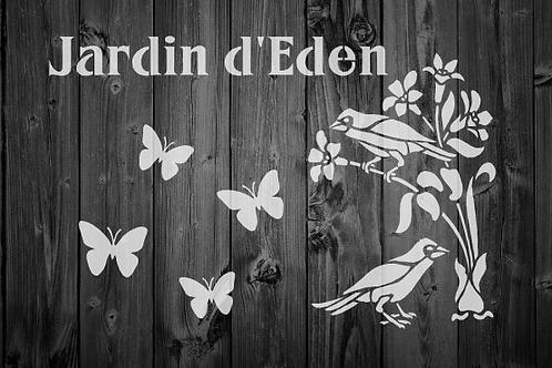 Jardin d'Eden Shabby Chic mylar stencil
