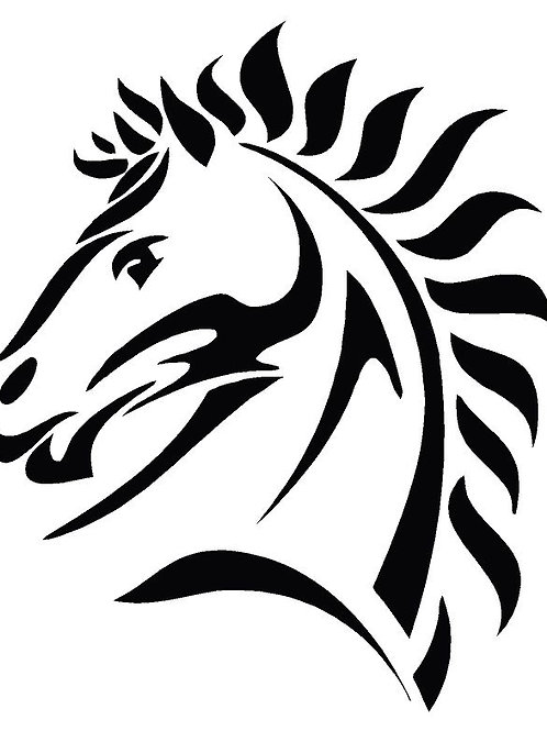Horses Head mylar stencil 125/190 micron in A5/A4/A3 sizes