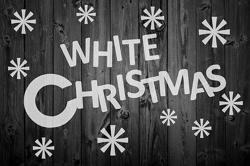 White Christmas Mylar Stencil Sheet