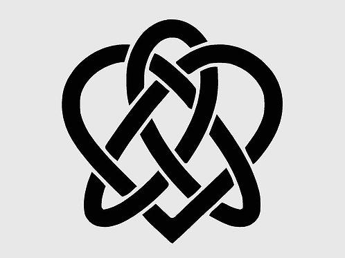 Celtic Heart Knot Mylar Stencil