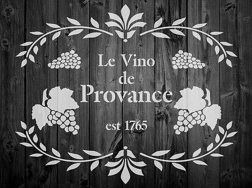 Le Vino de Provance Shabby Chic mylar stencil
