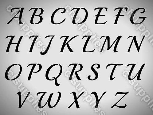 Vintage Alphabet Mylar Stencil