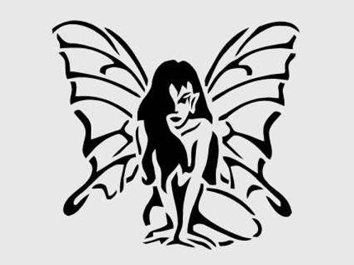 Impish Fairy Fantasy Mylar Stencil