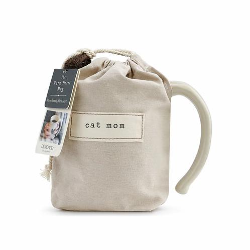Cat Mom Heart Mug