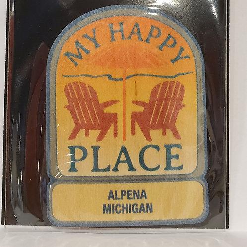 Wood Sticker Happy Place