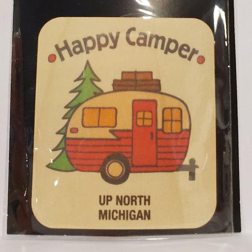 Wood Sticker Happy Camper