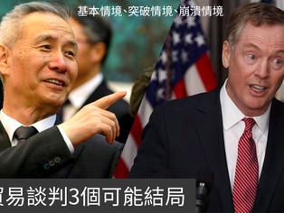 貿易談判的3個可能結局:基本/突破/崩潰