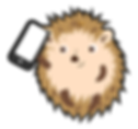 hedgehog playing phone.png
