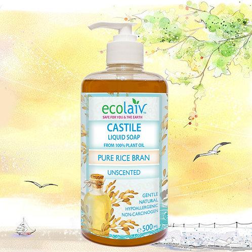 Ecolaiv Castile Pure Rice Bran Liquid Soap