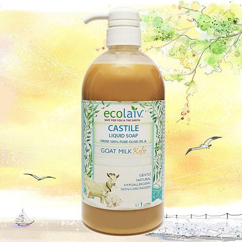 Ecolaiv True Castile Goat Milk Kefir Liquid Soap