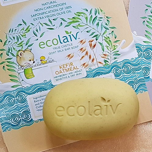 Ecolaiv True Castile Goat Milk Kefir Oatmeal Bar Soap