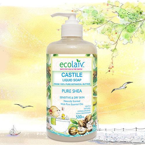 Ecolaiv Castile Pure Shea Liquid Soap